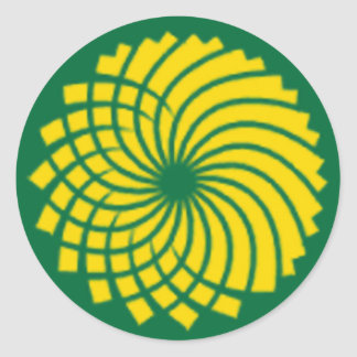 GREEN PARTY ROUND STICKERS