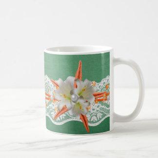 Green Party Starfish Summer Mug
