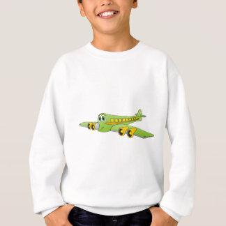 Green Passenger Jet Cartoon Sweatshirt