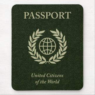 green passport mouse pad