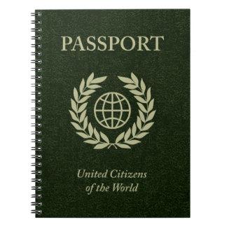 green passport notebook