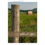 Green Pastures Country Thank You Note Card