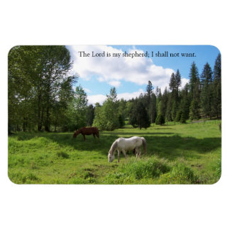 Green Pastures Psalm 23 Rectangle Magnet