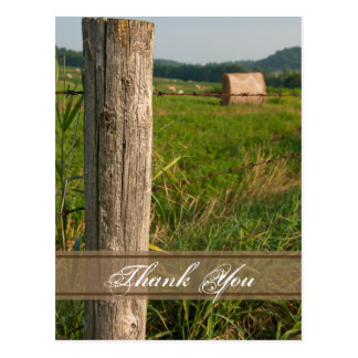 Green Pastures Thank You Postcard