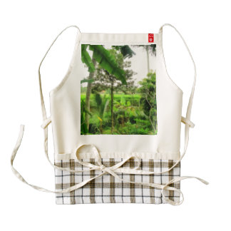 Green patch and fields zazzle HEART apron