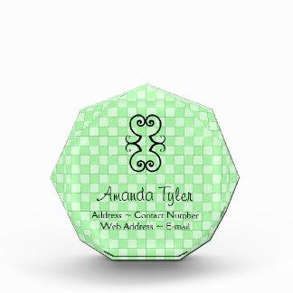 Green Patchwork Pattern Acrylic Award