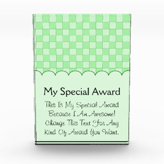 Green Patchwork Pattern Award