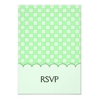 Green Patchwork Pattern Invitations