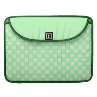 Green Patchwork Pattern MacBook Pro Sleeves