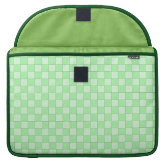 Green Patchwork Pattern Sleeves For MacBook Pro