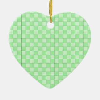 Green Patchwork Pattern Christmas Ornaments