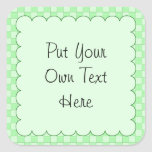 Green Patchwork Pattern Stickers