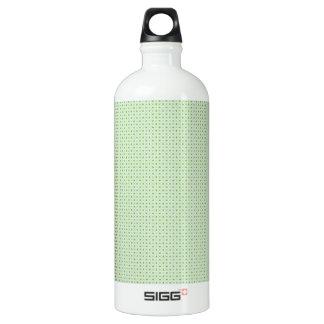 Green pattern aluminum water bottle