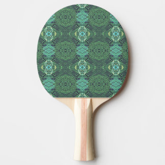 Green Pattern and Textured trendy Kaleidescope Ping Pong Paddle