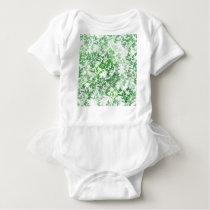 green pattern baby bodysuit