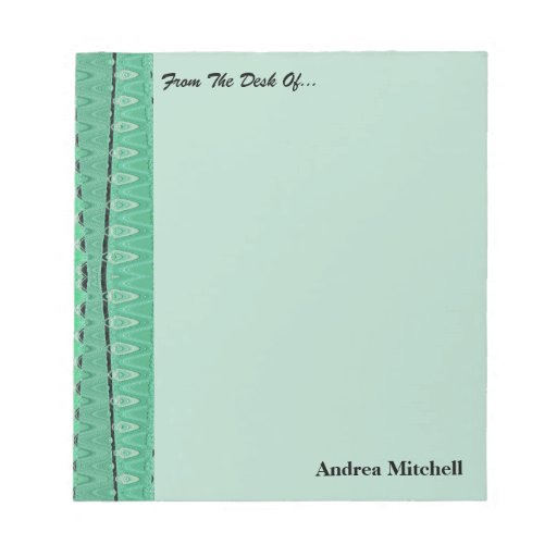Green pattern background memo notepad