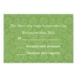 Green Pattern Background RSVP Cards Invites