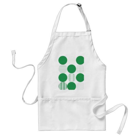 Green Pattern Circles Apron