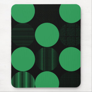 Green Pattern Circles Mousepad