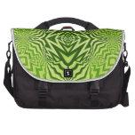 green pattern computer bag