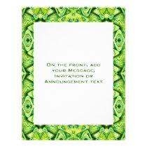 green pattern flyer