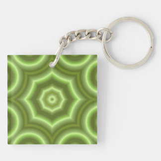 Green pattern keychain