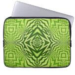green pattern laptop sleeves