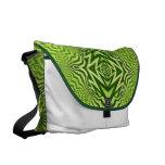 green pattern messenger bag