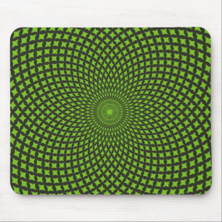 Green Pattern Mouse Pad