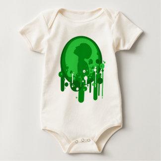 Green pattern of hope baby bodysuit