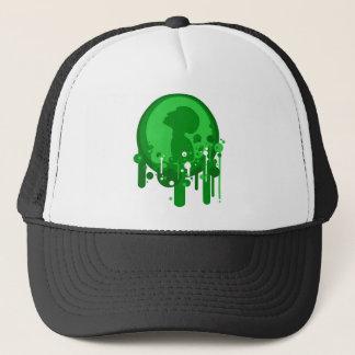 Green pattern of hope trucker hat