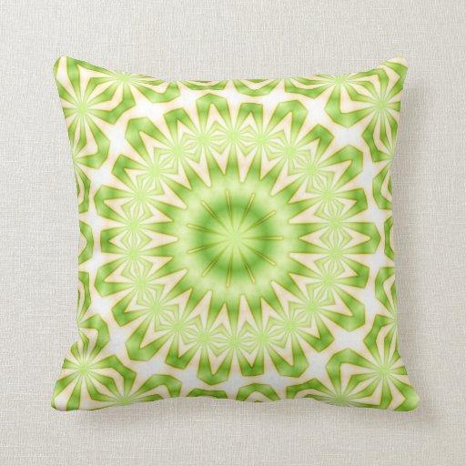 green pattern pillow design