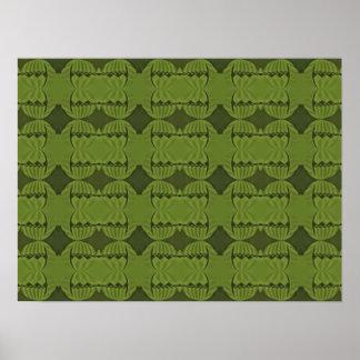 green pattern poster