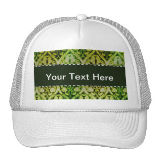 Green Pattern; Vintage Hat
