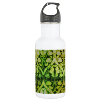 Green Pattern; Vintage Water Bottle