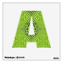 green pattern wall decal
