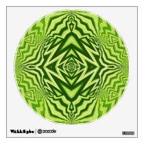 green pattern wall sticker