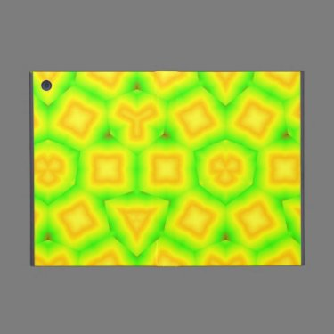 Green pattern with yellow square and triangle iPad mini case