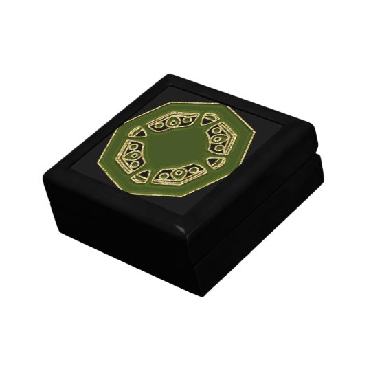 Green Patterned top Gift Box