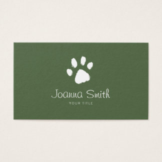 Green Paw Dog Walking Pet Sitting Vet Appointment Business Card