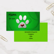 Pet care business cards visiting cards mgdezigns green paw heart pet business cards colourmoves