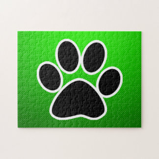 Green Paw Print Puzzle