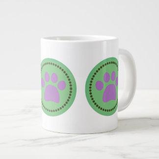 Green Paws Jumbo Mug