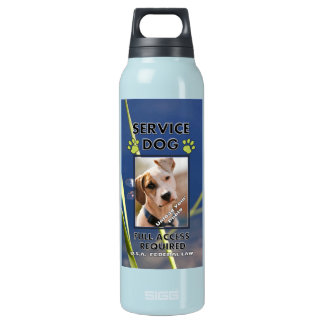 Green Paws Service Dog  K9 Quench Insulated Water Bottle