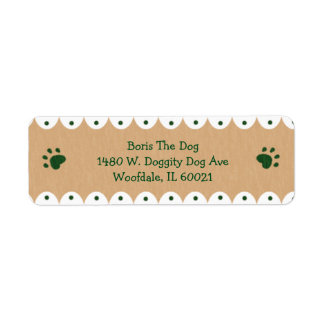 Green Paws Small Address Labels