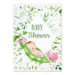 Green Pea Baby Shower Invitation