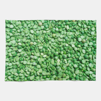 Green pea background hand towels