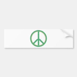 Green Peace Car Bumper Sticker