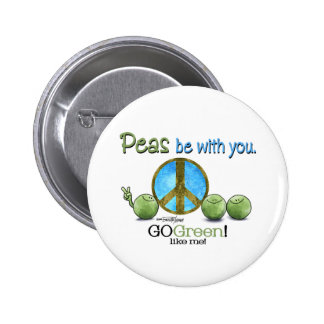 Green Peace Pinback Button