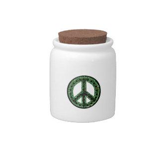 Green Peace Candy Jar